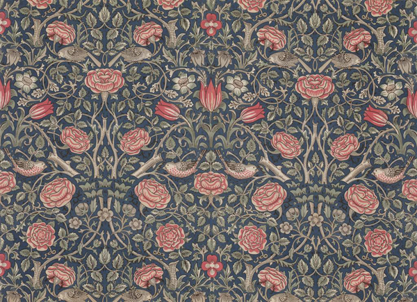 The Milanese 187 Tudor Rose Pattern Printed Fabric William