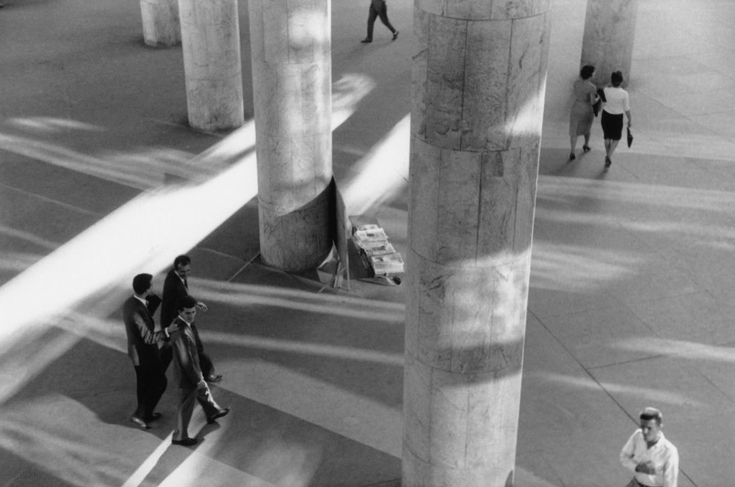 BRAZIL. Rio De Janeiro. 1960. The Ministry of Health building designed by architect Lucio Costa's team, including Oscar Niemeyer.