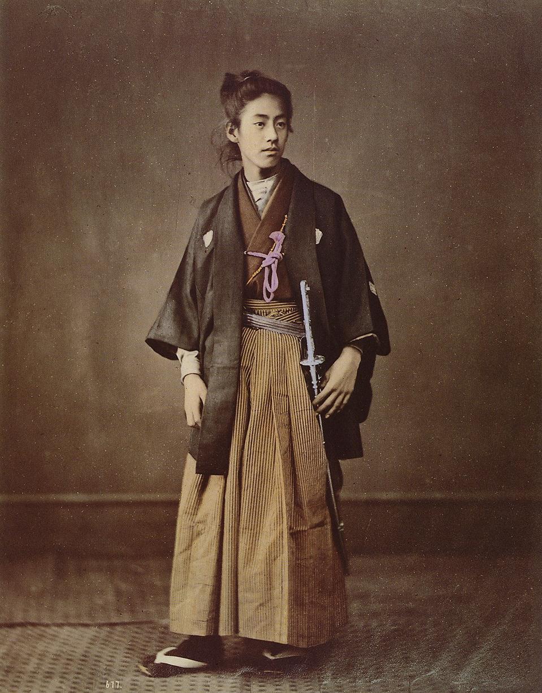 The Milanese Young Sazuma Samurai Photography By Felice Beato 1850s